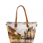 Shopping bag - Y Not? Borsa Shopping Bag Zip L Tan Gold Milano Sunset K 397