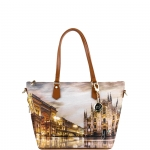 Shopping bag - Y Not? Borsa Shopping Bag Zip M Tan Gold Milano Sunset K 396