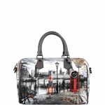 Bauletto - Y Not? Borsa Bauletto M Grey Gun London Autumn in London K 318