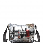 Shoulder Bag - Y Not? Borsa Shoulder Bag M Grey Gun London Autumn in London K 370