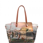 Shopping bag - Y Not? Borsa Shopping Bag L Tan Gold Roma Joyful Wind K 398