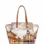 Shopping bag - Y Not? Borsa Shopping Bag L Tan Gold Milano Sunset K 398