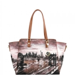 Shopping bag - Y Not? Borsa Shopping Bag L Tan Gold New York East River K 398