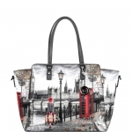 Shopping bag - Y Not? Borsa Shopping Bag L Grey Gun London Autumn in London K 398