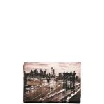 Portafoglio - Y Not? Portafoglio M Tan Gold New York East River K 346