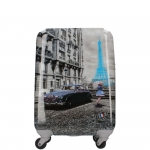 Trolley - Y Not? Valigia Trolley L Dark Blue Gun Paris Blue Rain K 1003