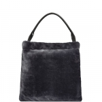 Shoulder Bag - Nalì Borsa Shoulder Bag Tote Pelliccia Grigio
