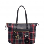 Shopping bag - Liu jo Borsa Shopping Bag L Brenta Check N68060T7811 Tartan Black/Red/Blue