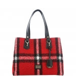Shopping bag - Liu jo Borsa Shopping Bag L Hawaii Check Felt N68145T5265 Tartan Red/Black