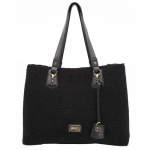 Shopping bag - Liu jo Borsa Shopping Bag L Hawaii Sheepskint N68145E0437 Black