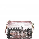 Tracolla - Y Not? Borsa Tracolla M Tan Gold New York East River K 399