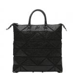 Shopping bag - Gabs Shopping Bag Piatta M Yoko Trasformabile In Pelle Metallizzata Ossidiana