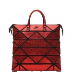 Shopping bag - Gabs Shopping Bag Piatta M Yoko Trasformabile In Pelle Metallizzata Rossa