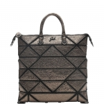 Shopping bag - Gabs Shopping Bag Piatta M Yoko Trasformabile In Pelle Metallizzata Canna di Fucile
