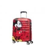Trolley - American Tourister Valigia Trolley Wavebreaker Disney Spinner S Mickey Comics Red