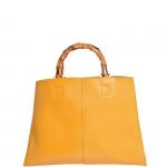 Hand Bag - Nalì Borsa Hand Bag L Manico Bamboo Senape