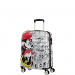 Trolley - American Tourister Valigia Trolley Wavebreaker Disney Spinner S Minnie Comics White