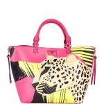Hand Bag - Y Not? Borsa Hand Bag L JR041 Leopard Fucsia