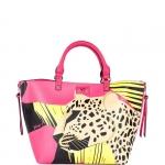 Hand Bag - Y Not? Borsa Hand Bag M JR040 Leopard Fucsia