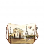 Shoulder Bag - Y Not? Borsa Shoulder Bag M Tan Gold Paris Vie En Rose L-370