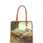 Shopping bag - Y Not? Borsa Shopping Bag L Tan Gold Rome Roman Holiday L-327