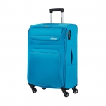 Trolley - American Tourister Valigia Trolley Spring Hill Spinner M Sky Blu