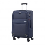Trolley - American Tourister Valigia Trolley Summer Voyager Spinner L Exp. Midnight Blu