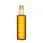 alta protezione - Clarins Spray Solaire Huile Embellissante Olio Solare Spray Corpo e capelli Protezione alta UVA/UVB 30
