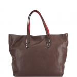 Shopping bag - Gianni Chiarini Borsa Shopping Bag L Muddy - Hot Red - Natural