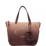 Shopping bag - Liu jo Borsa Shopping Bag L Sfumata Logo Lucciola Burgundy / Smog