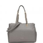 Shopping bag - Liu jo Borsa Shopping Bag L East /West Anna Chain Gun Metal