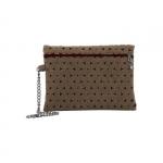 Pochette - O Bag Pochette Feltro Mattone / Beige