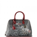 Bugatti - Y Not? Borsa Bugatti M Dark Red Gun Metal Paris G-325