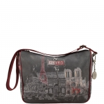 Sacca - Y Not? Borsa Sacca M Dark Red Gun Metal Paris G-370