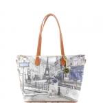 Shopping bag - Y Not? Borsa Shopping Bag L Cuoio Gold Metro Parisienne Parigi G-396