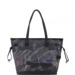 Shopping bag - Y Not? Borsa Shopping Bag M Dark Blue Gun Metal Venice G-319
