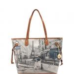 Shopping bag - Y Not? Borsa Shopping Bag M Cuoio Gold Metro Parisienne Parigi G-319