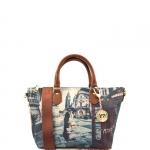 Shopping bag - Y Not? Borsa Shopping Bag S Cuoio Gold Romantic London Londra G-395