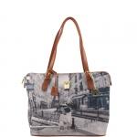 Shopping bag - Y Not? Borsa Shopping Bag Michelle M Cuoio Gold Metro Parisienne Parigi G-377