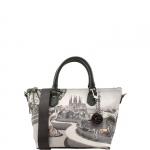 Shopping bag - Y Not? Borsa Shopping Bag S Grigio Gun Metal Flamenco Barcellona G-395
