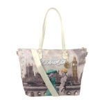 Shopping bag - Y Not? Borsa Shopping New L White London Party Londra F-397