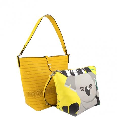 Borsa Secchiello M FAU001 Yellow Koala