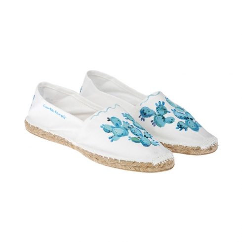 Espadrillas in Canvas dipinte a mano CCE01