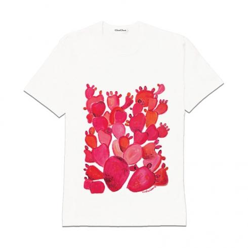 T-Shirt in cotone dipinta a mano CCT02