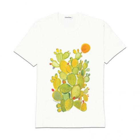 T-Shirt in cotone dipinta a mano CCT03