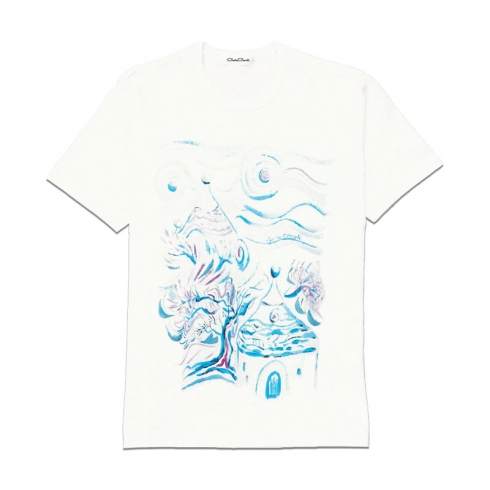 T-Shirt in cotone dipinta a mano CCT04