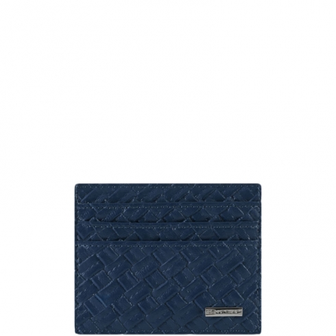 Portafoglio M Cross Leather Blu Scuro