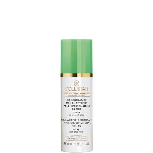 Deodorante Multi-Attivo Pelli Ipersensibili 24 Ore Spray Al Latte Di Aloe Alcohol Free