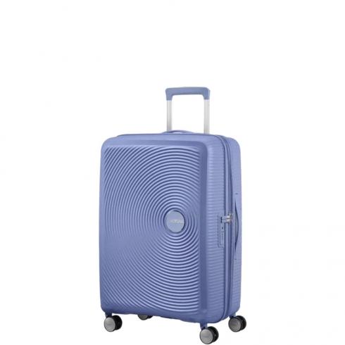 Valigia Trolley Soundbox Spinner Exp S Denim Blu