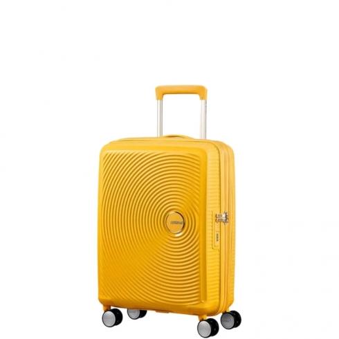 Valigia Trolley Soundbox Spinner Exp S Golden Yellow